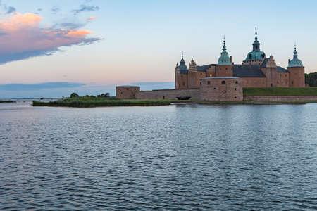 Kalmar castle at sunrise in the Smaland region of Sweden.