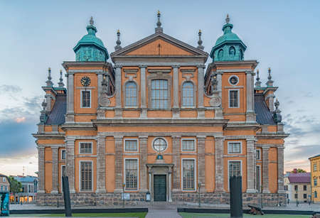 Kalmar Cathedral is in the centre of the city in southeast Sweden, situated on the Baltic Sea.