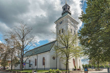 The church in the swedish town of Varberg. 版權商用圖片
