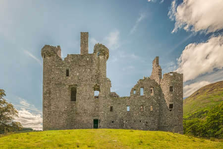 Kilchurn Castle, a ruined 15th century structure on the banks of Loch Awe, in Argyll and Bute, Scotland on July 08, 2013. Editöryel