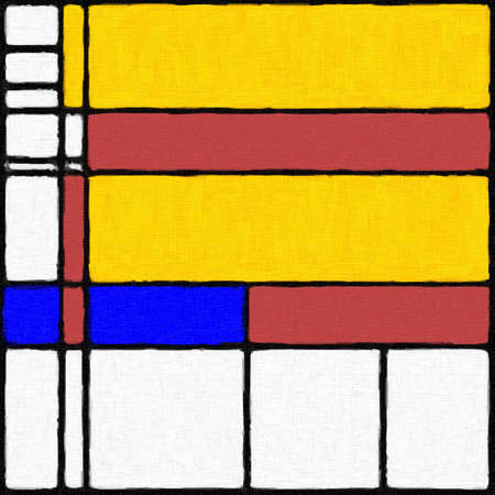 Abstract modern digital painting in the style of Piet Mondrian, seamless pattern