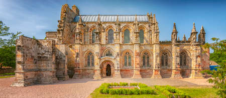 The 15th century Rosslyn Chapel situated in Scotland and made famous by the book, The Da Vinci Code.