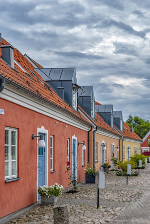A quaint little street in the old part of Ahus, Sweden