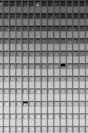 A black and white fine art photograph of modern architecture found in the Danish city of Copenhagen.