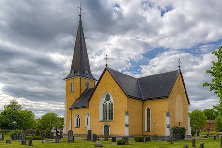 The Broby Church was built in the gothic revival style of architecture