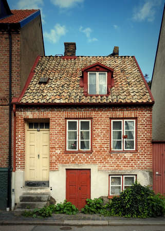 HELSINGBORG, SWEDEN - SEPTEMBER 06, 2020:A small house in one of Helsingborgs older streets.