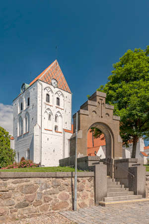 The Church of the Holy Cross, with its oldest parts from the end of the 12th century and completed during the 15th century, is the foremost medieval building in Blekinge Stock fotó