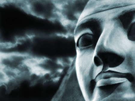 pharoah: Ramses Statue in Egypt