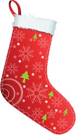 single color image: Christmas Stocking