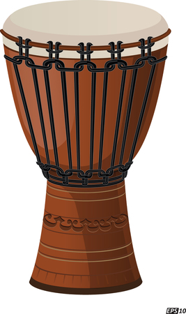 bongo drum: Djembe drum isolated