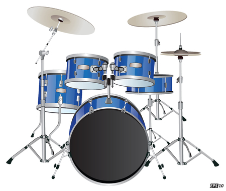 6,499 Drum Set Stock Vector Illustration And Royalty Free Drum Set ...