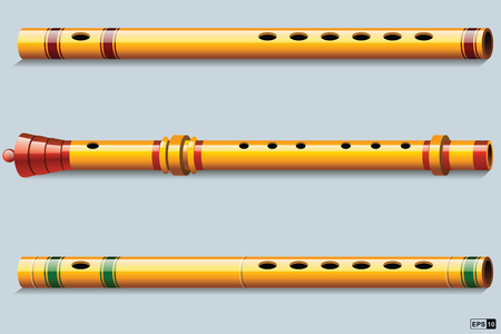 classical theater: Flutes Illustration