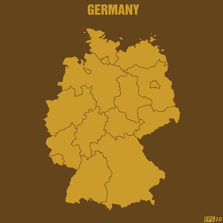 cartographer: Germany Map Illustration