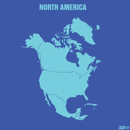 north america map: Nord America Mappa