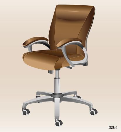 leather chair: Ufficio  Computer Chair Vettoriali