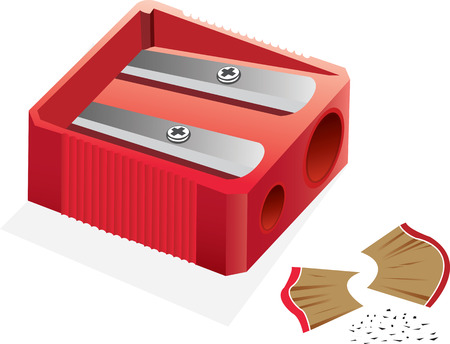 pencil box: Pencil sharpener