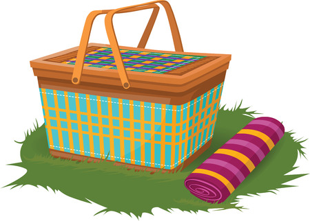 picnic blanket: Picnic Kit Illustration