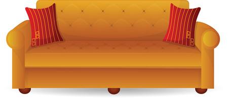 Sofa with cushions Vector