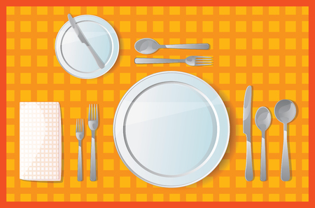 setting table: Table setting for Dinner Lunch