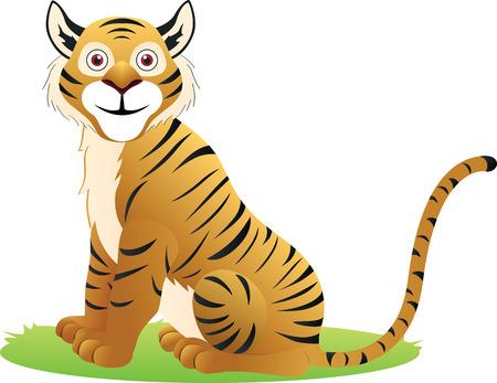 familia animada: Tigre Vectores