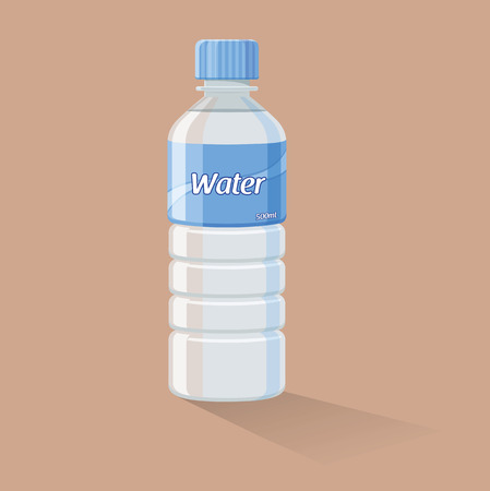 mineral water bottles: Botella de agua Vectores