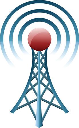 microwave antenna: Torre de comunicaci�n