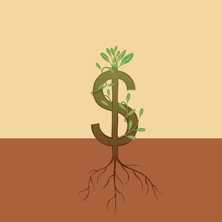 albero della vita: Crescita del dollaro Vettoriali