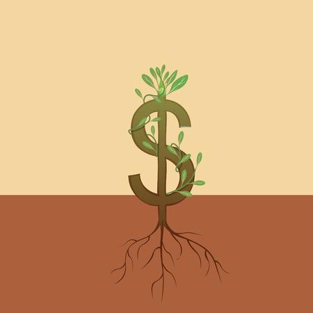 arbol de la vida: D�lar crecimiento Vectores
