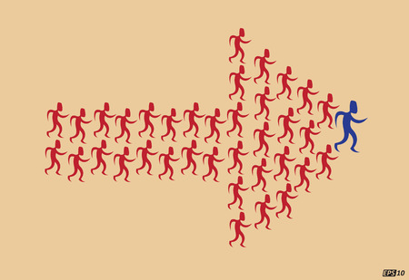 one person only: Follow the Leader Illustration