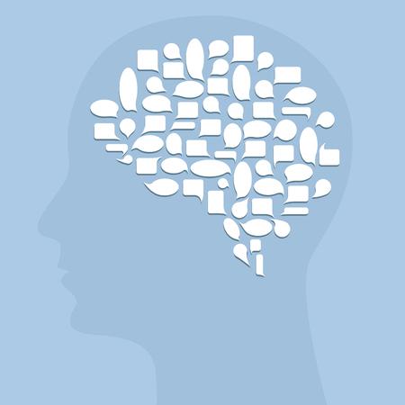 pensador: Pensador creativo Vectores
