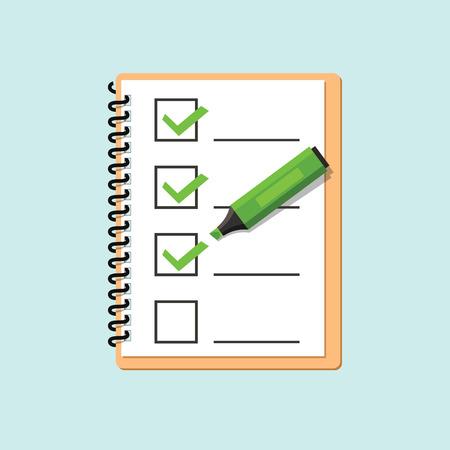 cheque en blanco: Lista de control