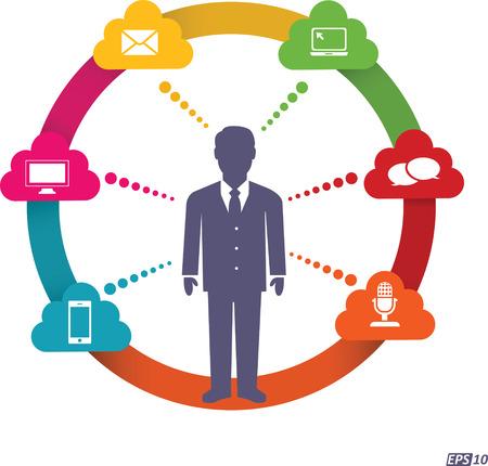 comunicazione: Canale di comunicazione Vettoriali