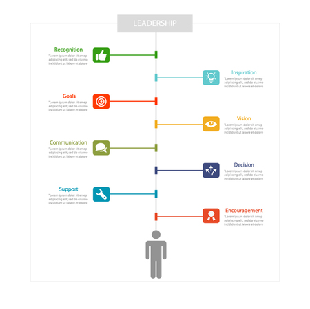 standing out: Business management ,strategy and human resource infographics Illustration
