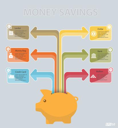 deposit slip: Saving Icon Illustration