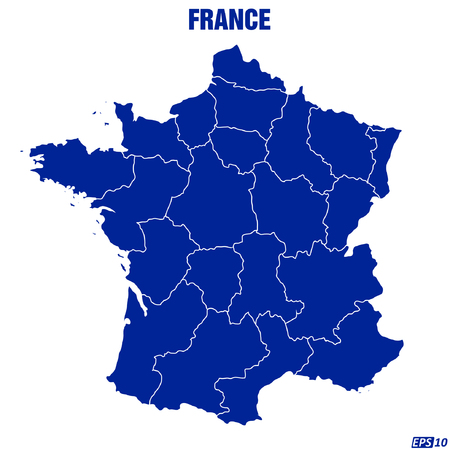 low scale: Map of France - Vector Illustration Illustration