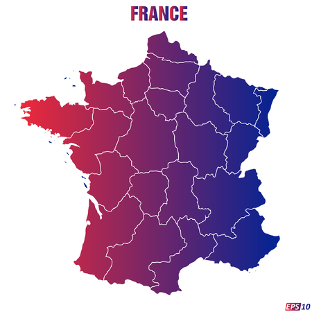 developed: Map of France - Vector Illustration Illustration