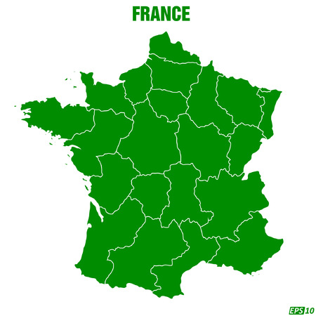 normandy: Map of France - Vector Illustration Illustration