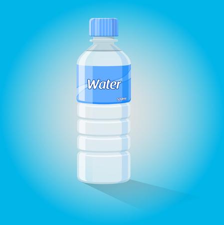 mineral water bottles: Water Bottle - Vector Illustration