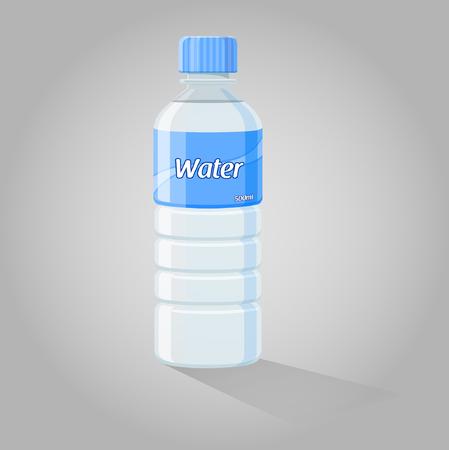 water bottles: Water Bottle - Vector Illustration