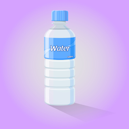 digitally generated image: Water Bottle - Vector Illustration