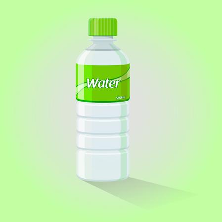 single color image: Water Bottle - Vector Illustration