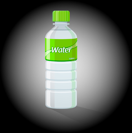 purified water: Water Bottle - Vector Illustration