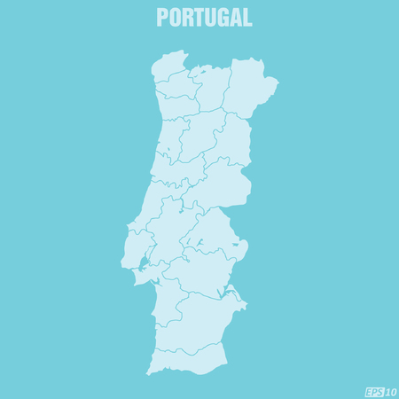 physical geography: Portugal Map Illustration