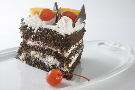 Yummy, all-occasion cake! Stock Photo