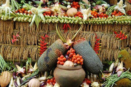 Celebration of a years abundant harvest Stock Photo