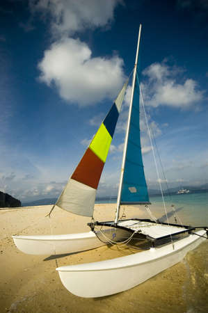 hobie: Hobie Cat in beach in El Nido, Philippines