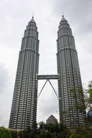 petronas: Una vista de la construcci�n de Petronas en Malasia
