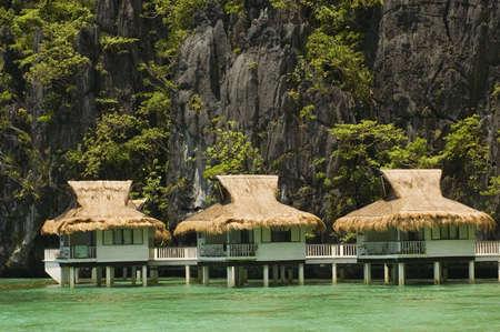 stilts: Cottages on stilts in Palawan, Philippines