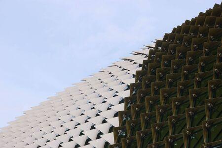 acute angle: Una vista del Teatro Esplanade de Singapur
