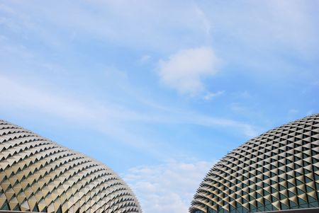building feature: A view of the Esplanade Theater in Singapore Editorial